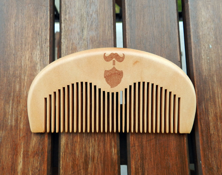 Handmade Peach Wood Comb